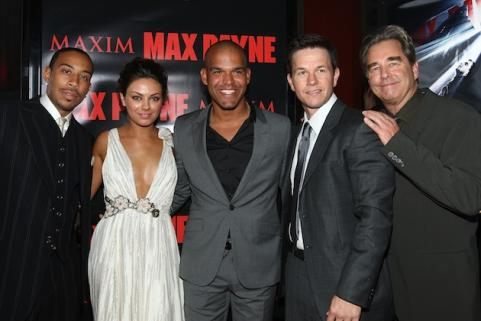 Mark Wahlberg at premiere of Max Payne