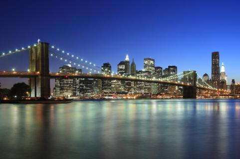 New York City Skyline - Brooklyn Bridge