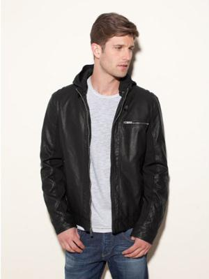 Levis-Hooded-Faux-Leather-Racer-Jacket-with-Fleece-Lining-Dark-Brown