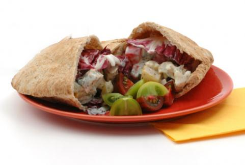 Whole Wheat Pita with Chicken &amp; Feta