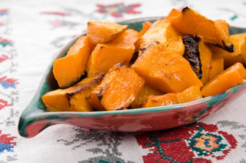 Dish of roasted pumpkin