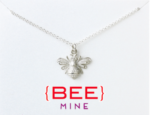 Necklace with a bee charm