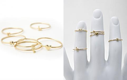 Catbird Alphabet Rings