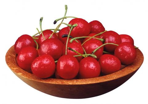 small bowl of cherries