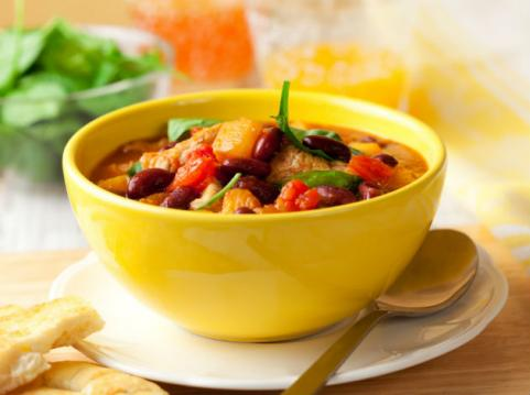 veggie chili with squash