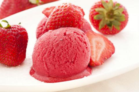 instant strawberry ice cream