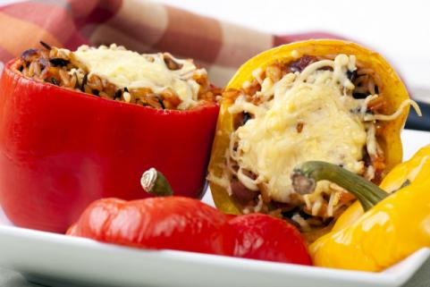 Stuffed peppers with cheese