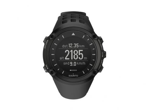 black Suunto Ambit high-performance sports watch