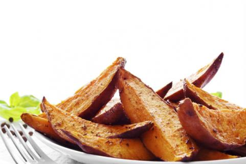 fried sweet potato wedges