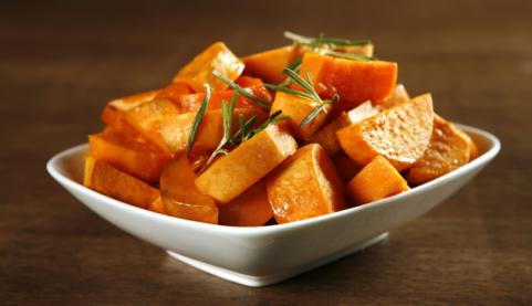 side of roasted sweet potatoes