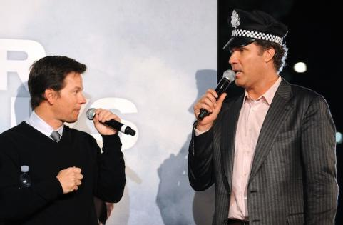 Mark Wahlberg with Will Ferrel at The Other Guys premiere