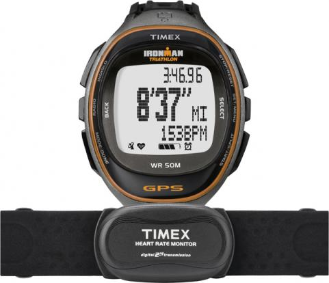 Black Timex Ironman Run Trainer watch on white background