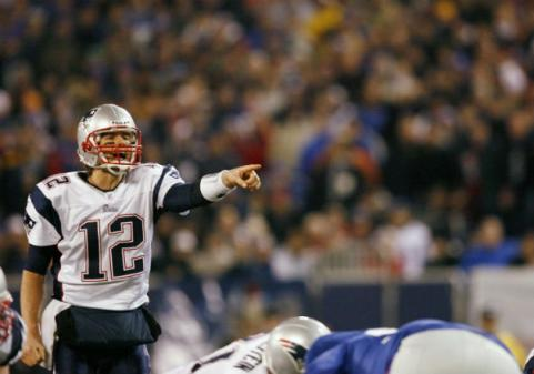 Tom Brady in super bowl xlii