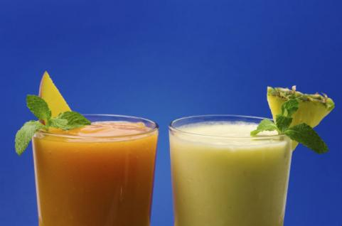 tropical smoothies with papaya