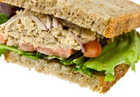Tuna on Whole Wheat Bread