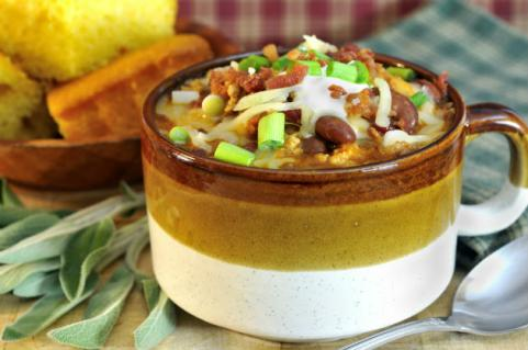 cup of turkey chili