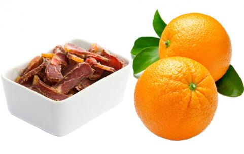Turkey Jerky and Orange