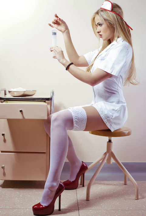 Woman in nurse costume
