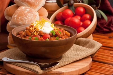 bowl of vegetable chili