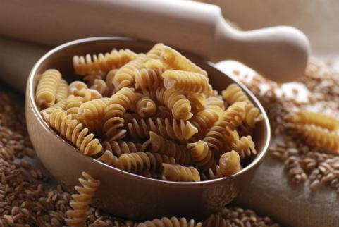 bowl of dry whole-wheat pasta