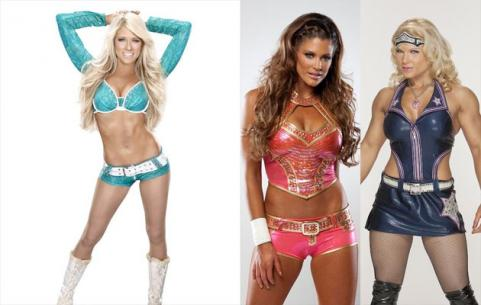 Maria Menounos and Kelly Kelly vs. Eve Torres and Beth Phoenix