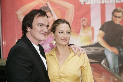 Quentin Tarantino and Zoe Bell at Death Proof Berlin screening