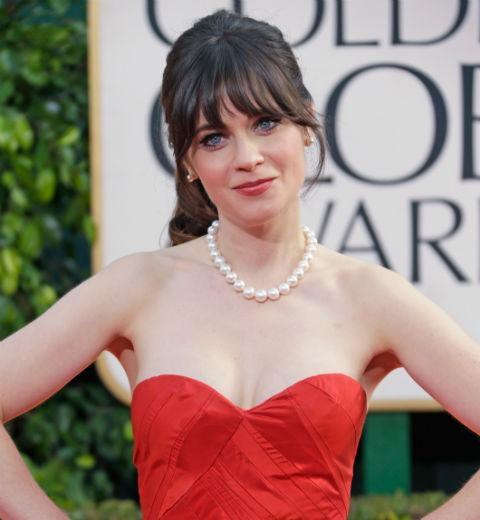zooey deschanel 2013 golden globes