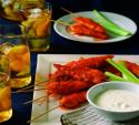 David Venable's buffalo chicken skewers