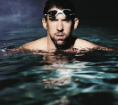 Michael Phelps in pool