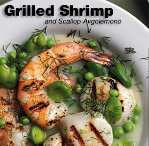 Grilled Shrimp & Scallop Avgolemono