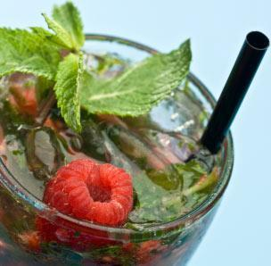 Raspberry Basil Mojito