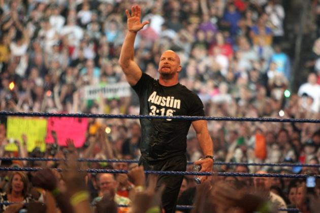 Professional wrestler Stone Cold Steve Austin cheering
