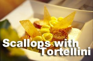 Scallops with Tortellini