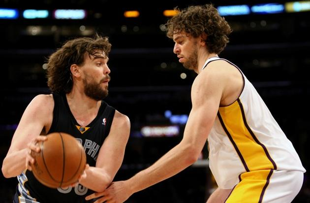 Gasol Brothers play for Spain in the 2012 Olympics