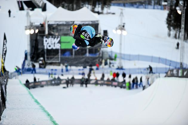 HalfPipe Snowboarder Louie Vito