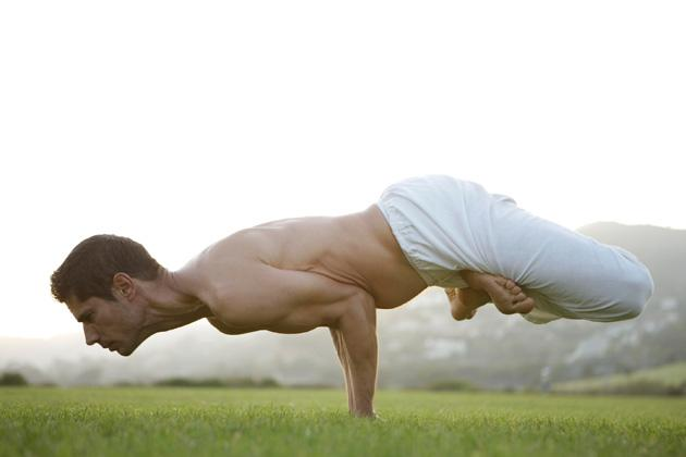 man doing a pose to practice yoga