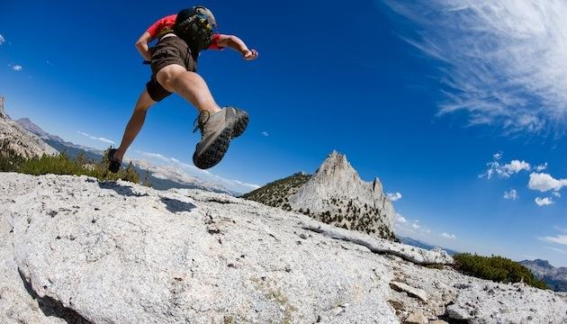 killer training - man running on a mountain trail