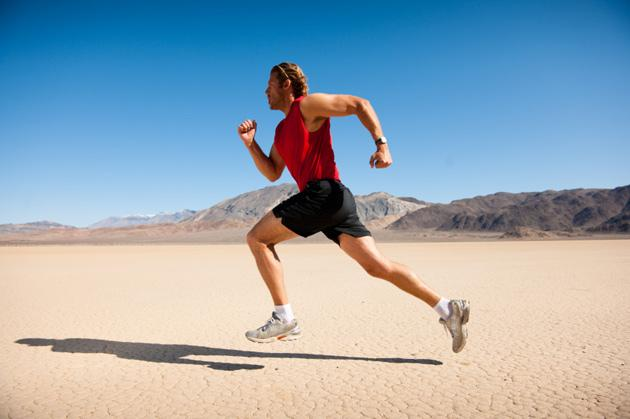 man running endurance workout