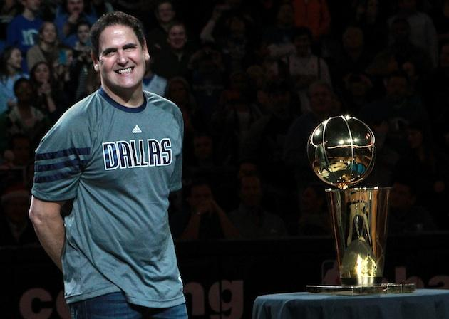 Mark Cuban with trophy