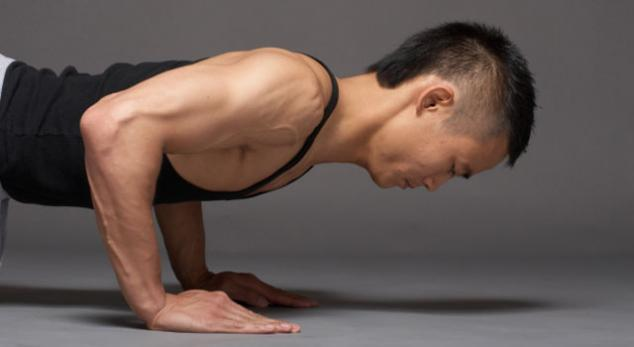 man performing pushups