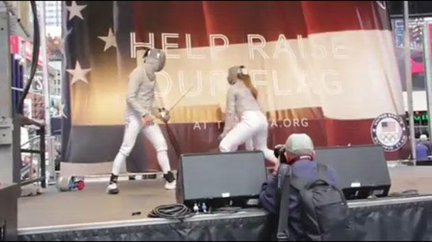 Olympics Fencing Demonstration