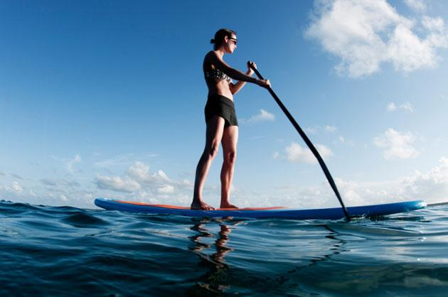 Girl Stand Up Paddleboarding