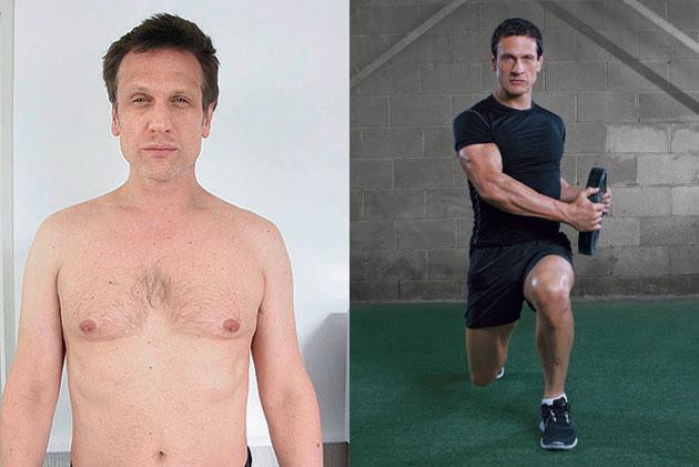 Simon Merrells before and after Spartacus fitness transformation