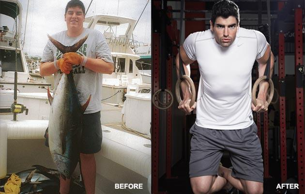 Dan McMullen before and after weight loss success