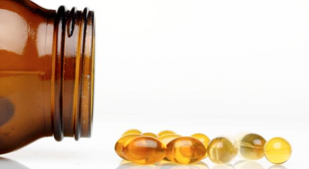 vitamin d supplements in a bottle