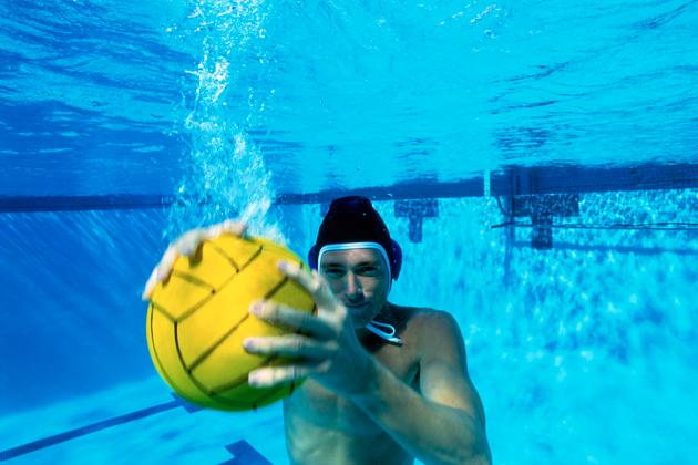 Water Polo Player Underwater
