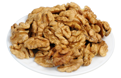 Plate of walnuts