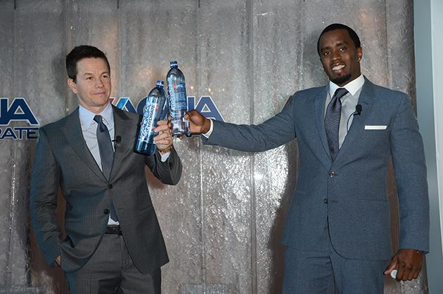 Mark Wahlberg and Sean Combs launch AQUAhydrate water