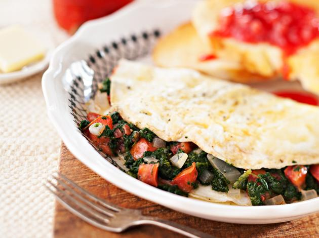 bobby deen egg white vegetable omelet