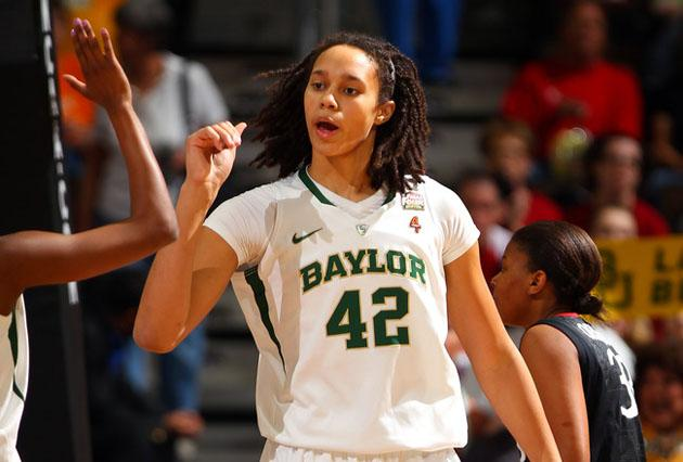 Brittney Griner plays basketball for Baylor